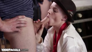 Tomboy gets her face splashed by stepbrother