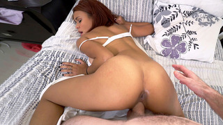 Raven Redmond gets doggystyled in her bedroom