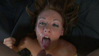 Terrific cock sucker Sierra Sinn can't stop giving a blowjob