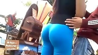 Amazing Ass In Tight Blue Pants
