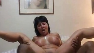 Fucking a Granny's Asshole with BBC