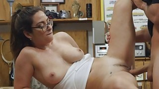 Amateur with glasses nailed by pawn guy