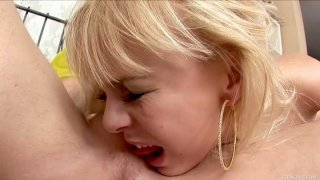 Awesome weird blondie Paulina licks all the toolbox of Ferris