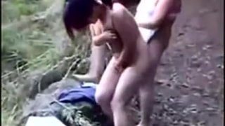 Asian Women Get Nude Outside