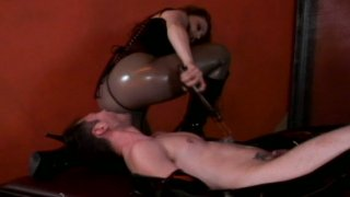 BDSM facesitting and dick tortures with mistress Gemini