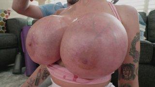 Joslyn James gets her big boobs oiled