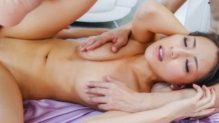 Hottie Ren Azumi enjoying a wild threesome session