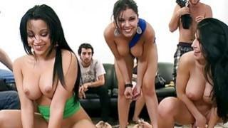 Three huge boobies latinas nasty orgy