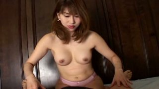 Sexy girl Reimi Matsukawa is busy with blowing dick on POV clip