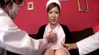 Busty and cute babe Rina Koizumi showing her knockers and hairy twat