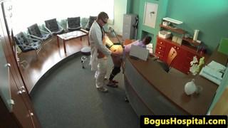 Doctor fucks hospital inspector on desk