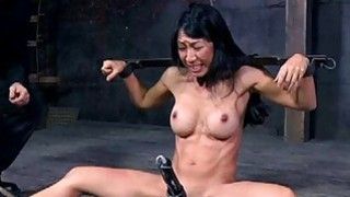 Slave gets arse whipping before pussy torturing