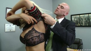 Naughty teacher Diamond Foxxx is punished by college principle