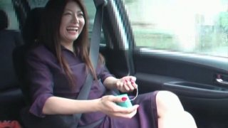 Sexy and chubby milf Ayano Murasaki playing with small vibrator