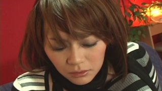 Voluptuous Japanese girlie Rina Wakamiya gets her muff teased and pleased