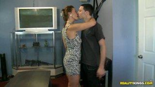 Beautiful mature whore Mrs Mimi blows her stud's stiff dick