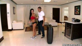 Erotic massage brings lots of joy and pleasure to horny Angelina Valentine