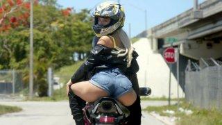 Biker Abella Danger gets her pussy licked