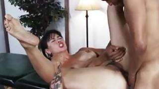 Sexy milf Dana Vespoli assfucked on massage table