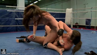 Nudefightclub presents Eliska Cross and Lisa Sparkle.