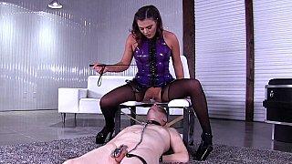 Evil Mistress having her pussy eaten out