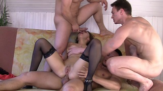 Dominica in gang banging porn featuring dominika and horny dudes