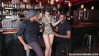 Tag teaming a hot bartender
