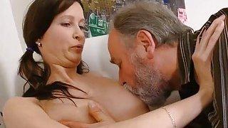 Slutty old dude teases juvenile sweetheart
